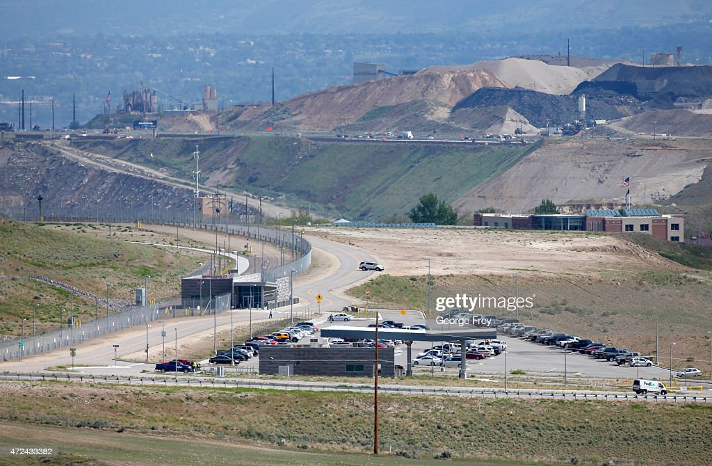 The security entrance to the NSA's new spy data collection center is seen south of Salt Lake City May 7 2015 in Bluffdale Utah Reportedly the center...