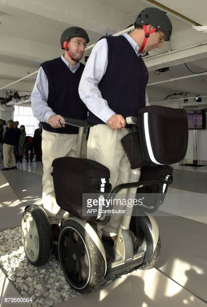 The Segway Human Transporter 'a selfbalancing electricpowered transportation machine' made its debut during a news conference in New York 03 December...