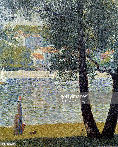 The Seine at Courbevoie Painting by Georges Seurat 1885 Private collection