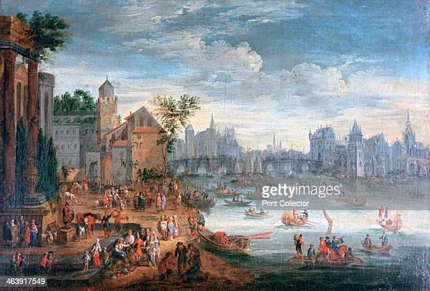 'The Seine River Paris' 17th century