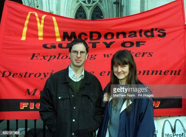 The selfstyled McLibel pair Dave Morris and Helen Steel outside the High Court in London where they won a partial victory in their appeal bid to...