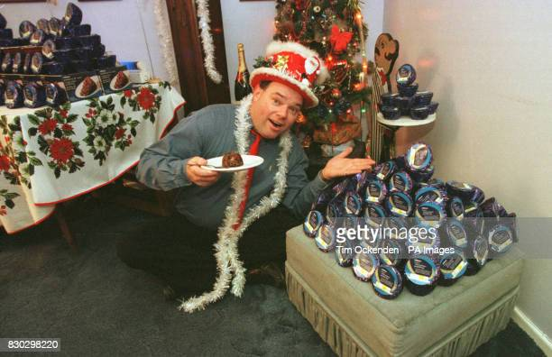 The selfstyled Mr Christmas aka engineer Andy Park with 366 Christmas Puddings given to him free of charge by chain store Marks Spencers at his home...