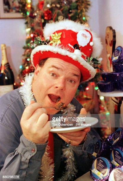 The selfstyled Mr Christmas aka engineer Andy Park with one of 366 Christmas Puddings given to him free of charge by chain store Marks Spencer at his...