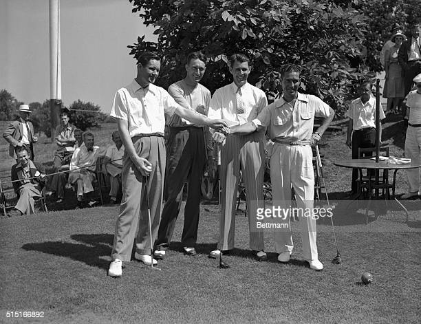 The semifinalists in the current PGA tournament at the Pomonok Country Club in Flushing They are left to right Byron Nelson US Open Golf Champion...