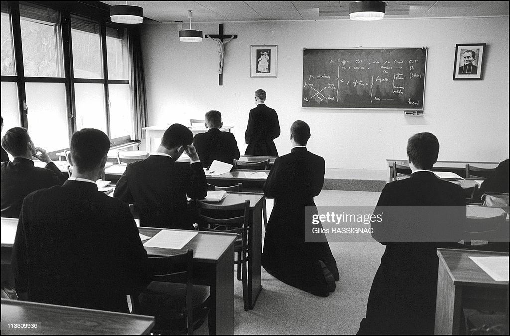 The Seminary Of The Excommunicated On April 1999 In Econe Switzerland At The Beginning And End Of Each Lesson This One Is Philosophy The Students...
