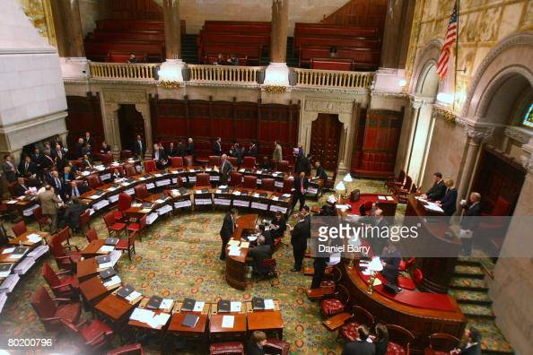 The Senate floor is seen inside the State Capitol March 11 2008 in Albany New York Eliot Spitzer apologized to his family and the public in a news...