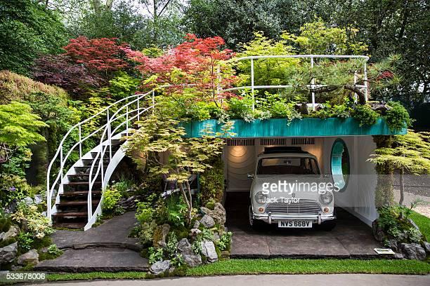 The 'SenriSentei Garage Garden' designed by Kazuyuki Ishihara at the Chelsea Flower Show on May 23 2016 in London England The prestigious flower show...
