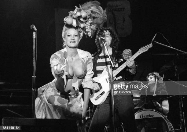 The Sensational Alex Harvey Band performing on stage at Rainbow Theatre London 24 January 1977