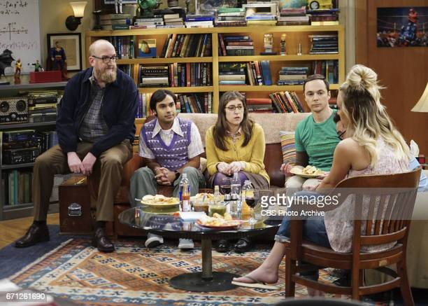 'The Separation Agitation' Pictured Brian Posehn Rajesh Koothrappali Amy Farrah Fowler and Sheldon Cooper Coverage of the CBS series THE BIG BANG...