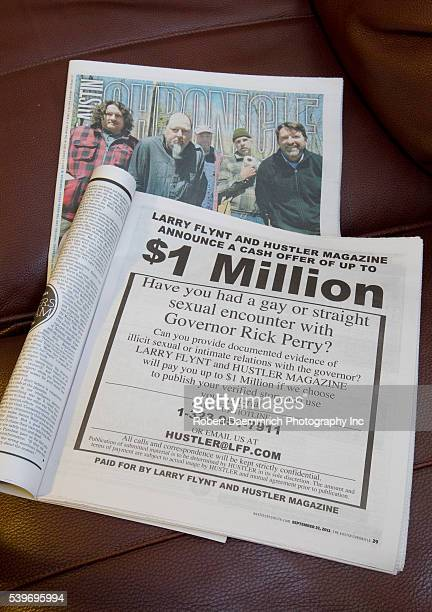 The September 23 2011 issue of the Austin Chronicle carries a full page ad paid for by Larry Flynt and Hustler Magazine for information on Texas...