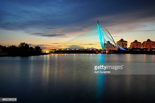 The Seri Wawasan Bridge during sunset