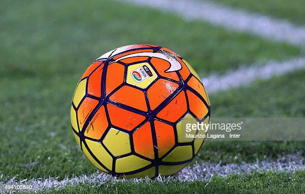 The Serie A ball during the Serie A match between US Citta di Palermo and FC Internazionale Milano at Stadio Renzo Barbera on October 24 2015 in...