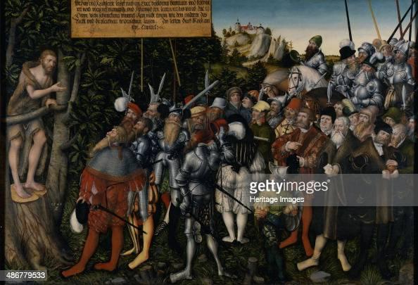 The Sermon of John the Baptist 1549 Artist Cranach Lucas the Younger