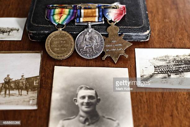 The service medals wartime photographs and memorabilia of Sergeant WilliamS Marks an ANZAC veteran who served in the Australian armed forces at...