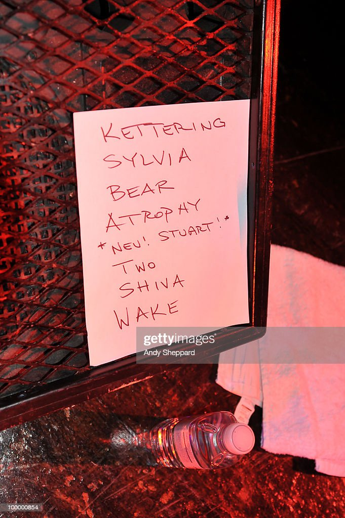 The Set List for The Antlers performance at The Scala on May 19, 2010 in London, England.