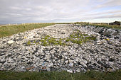 The sewerage lagoon on Shishmaref Alaska The Inuits of Shishmaref have no mains sewerage All houses have a honey bucket toilet lined with a plastic...