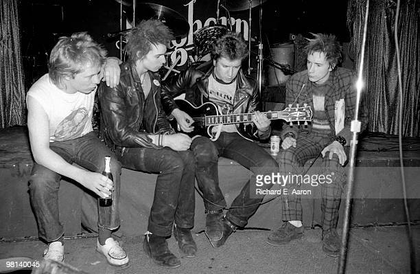 TEXAS The Sex Pistols posed onstage at The Longhorn Ballroom Dallas during their final tour on January 10 1978 LR Paul Cook Sid Vicious Steve Jones...