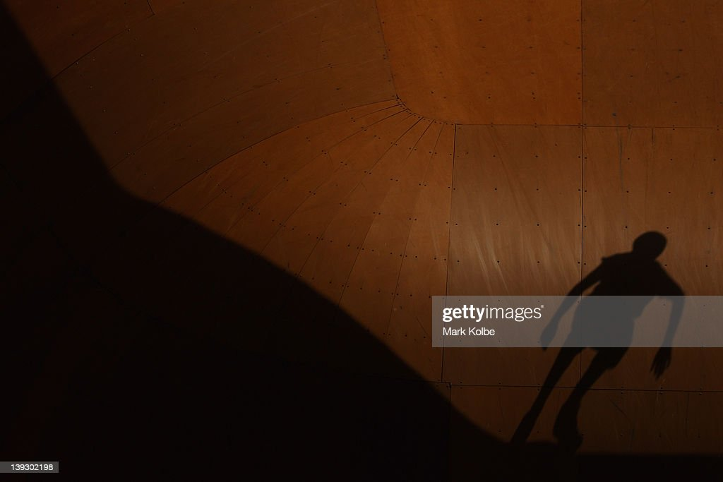 The shadow of a skater is seen in the Beach Bowl during the 2012 Australian Surfing Open on February 19, 2012 in Manly, Australia.