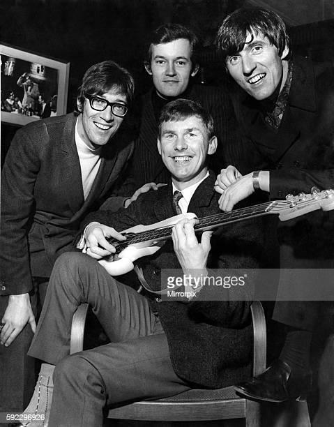 Hank Marvin Brian Bennett Bruce Welch and Brian Jones January 1966