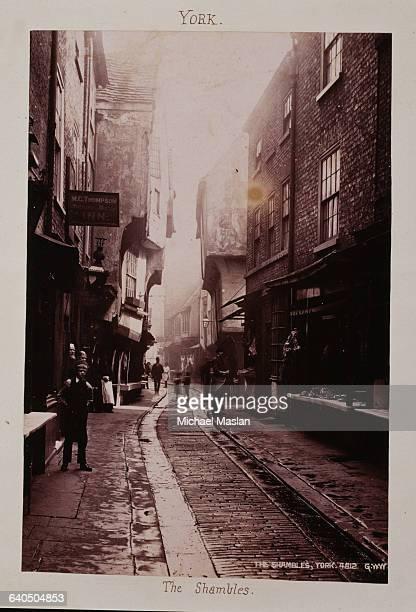 The Shambles Street in York England ca 1880s1890s