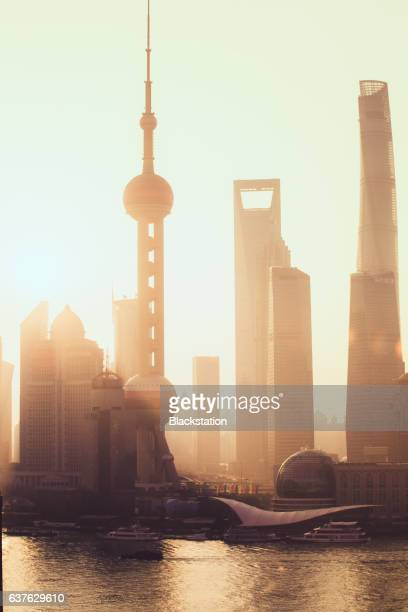 the Shanghai Center Tower,the Jinmao Tower and the SWFC tower,The Oriental pearl tower