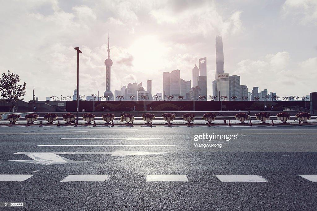 the Shanghai landmarks : Stock Photo