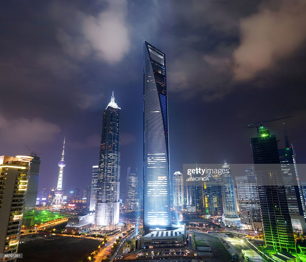 The Shanghai World Financial Center : Stock Photo