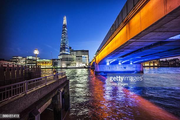The Shard and London Bridge at dusk