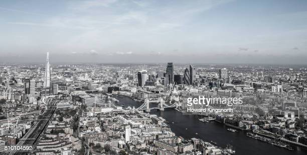 The Shard and The City of London, elevated view