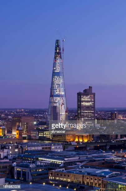 The Shard skyscraper at dusk, London