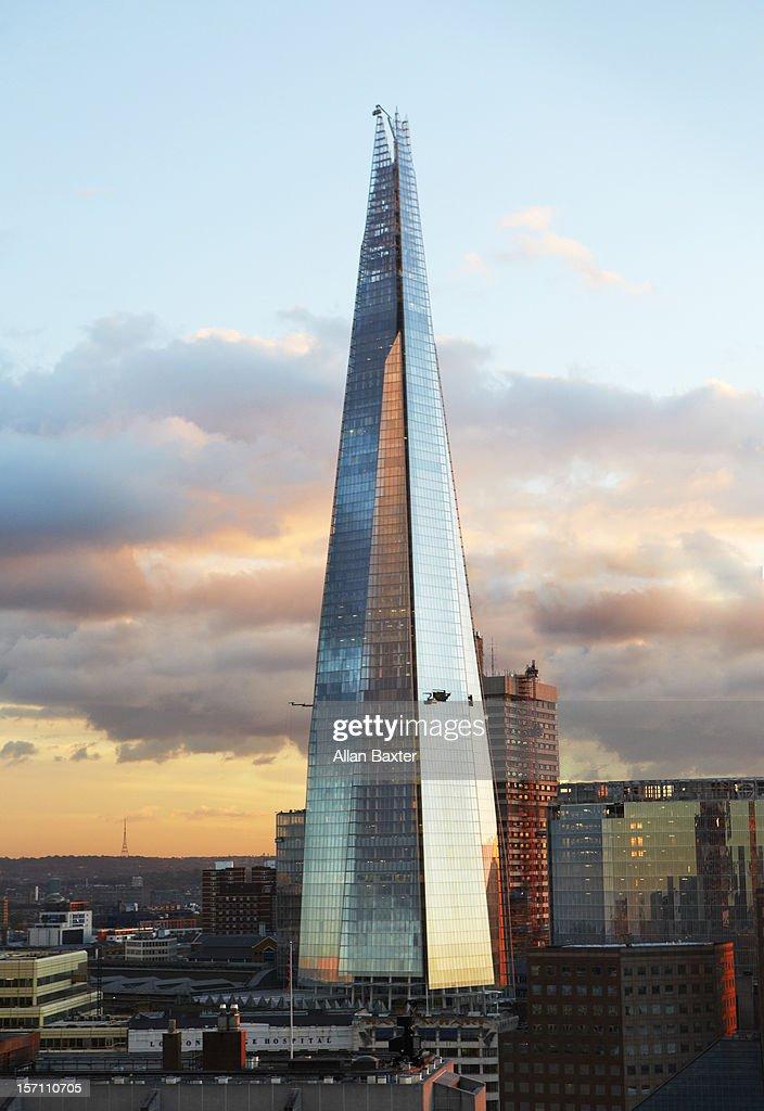 The Shard skyscraper at sunset