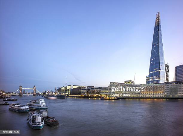 The Shard with The River Thames and Tower Bridge