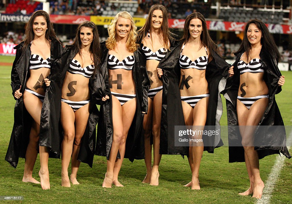 The Sharks Flashers pose during the Super Rugby match between Cell C Sharks and Highlanders at Growthpoint Kings Park on April 25, 2014 in Durban, South Africa.