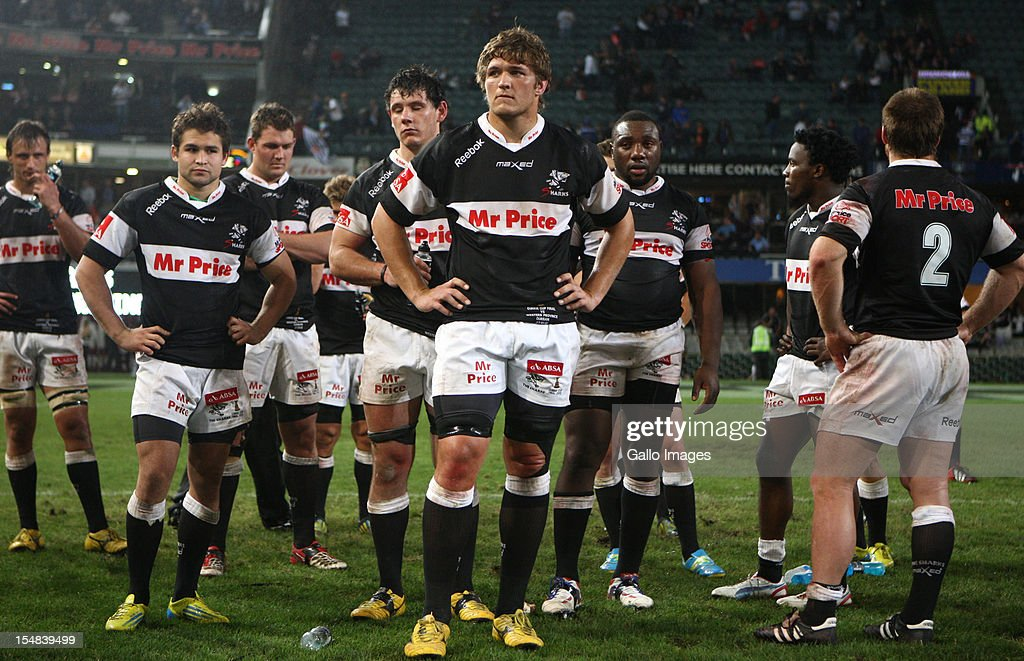 The Sharks look dejected after losing the Absa Currie Cup final match between The Sharks and DHL Western Province from Mr Price KINGS PARK on October 27, 2012 in Durban, South Africa.