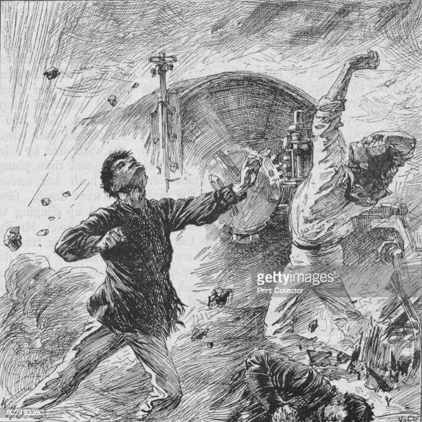 The Shell Burst Among Her Bow Guns' 1902 The Battle of Yalu River took place on 17 September 1894 on the lower reaches of the Yalu River at the...