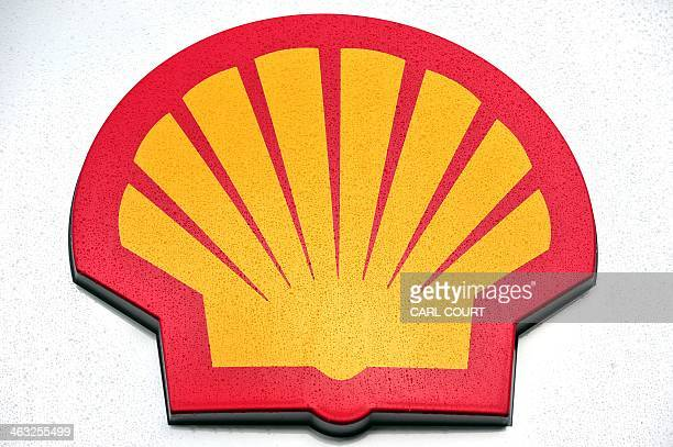 The Shell logo is pictured outside a Shell petrol station in central London on January 17 2014 Shell issued a severe profits warning on January 17...