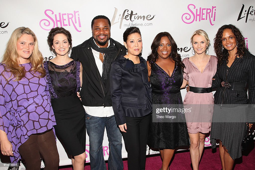 The Sherri Cast - Elizabeth Regen, Kali Rocha, <a gi-track='captionPersonalityLinkClicked' href=/galleries/search?phrase=Malcolm-Jamal+Warner&family=editorial&specificpeople=210531 ng-click='$event.stopPropagation()'>Malcolm-Jamal Warner</a>, Lifetime CEO and President Andrea Wong, <a gi-track='captionPersonalityLinkClicked' href=/galleries/search?phrase=Sherri+Shepherd&family=editorial&specificpeople=693379 ng-click='$event.stopPropagation()'>Sherri Shepherd</a>, <a gi-track='captionPersonalityLinkClicked' href=/galleries/search?phrase=Kate+Reinders&family=editorial&specificpeople=225000 ng-click='$event.stopPropagation()'>Kate Reinders</a> and Tammy Townsend attend the Launch Party for new sitcom 'Sherri' at the Empire Hotel on October 5, 2009 in New York City.