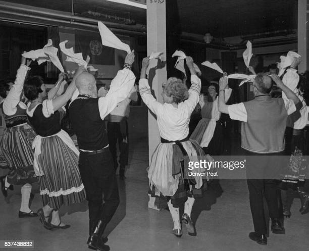 The Sherwood Dancers set a lively pace as they step to the beat of the 'Shepherd Hey' or Handkerchie Dance which dates from 17thcentury England Club...