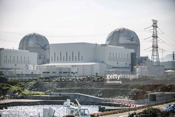 The Shin Kori No 3 and 4 nuclear power reactors operated by Korea Hydro Nuclear Power Co a unit of Korea Electric Power Corp stand in Ulju Ulsan...