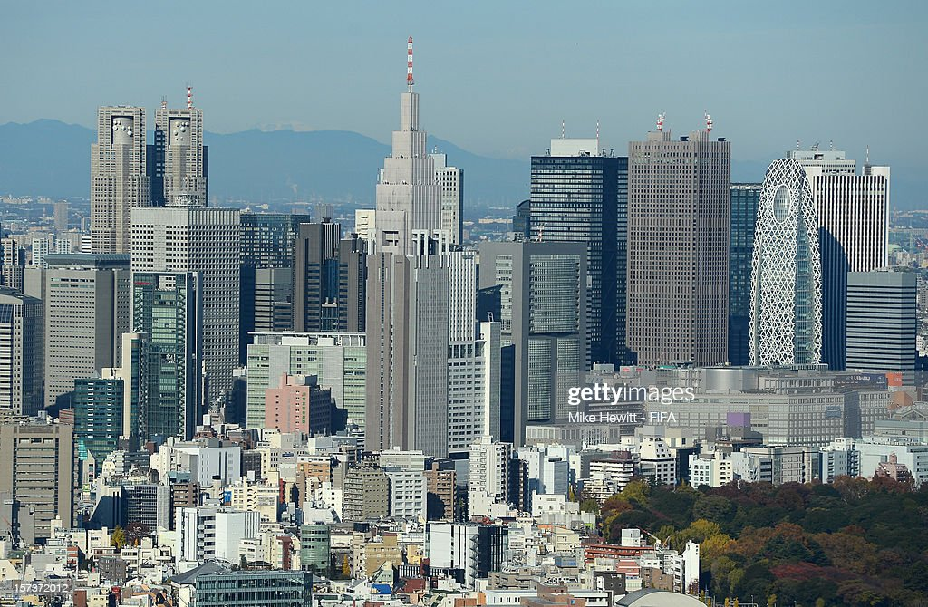 The Shinjuku district seen on December 2, 2012 in Tokyo, Japan.