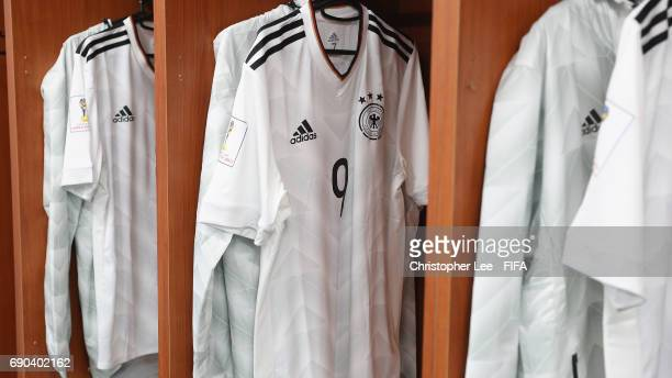 The shirt of Fabian Reese of Germany hanging up in the changing room during the FIFA U20 World Cup Korea Republic 2017 Round of 16 match between...