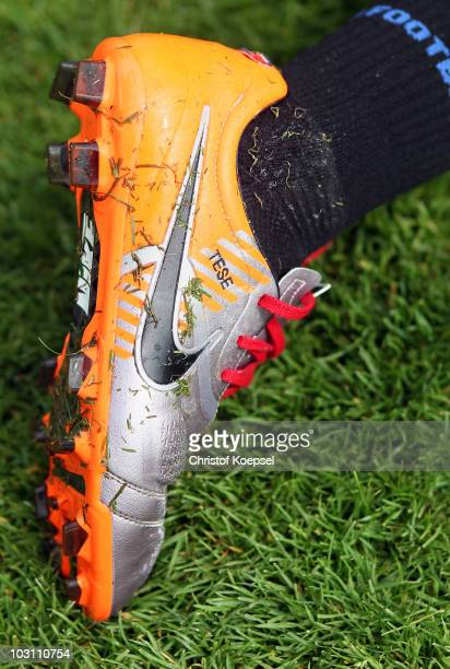 The shoe of TaeSe Jong is seen during the VfL Bochum training session at the Bib Arena on July 27 2010 in Bochum Germany