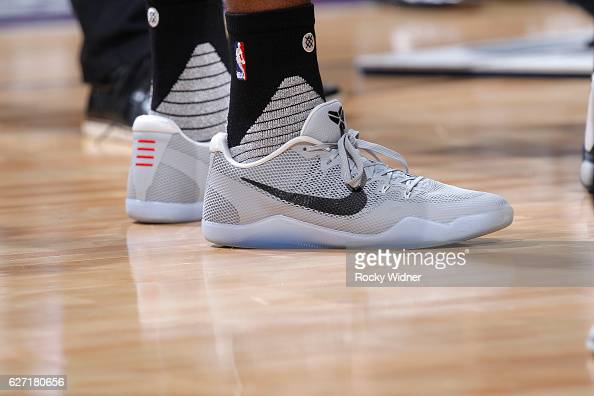 The shoes belonging to Arron Afflalo of the Sacramento Kings in a game against the Oklahoma City Thunder on November 23 2016 at Golden 1 Center in...