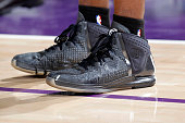 The shoes belonging to Tony Allen of the Memphis Grizzlies in a game against the Sacramento Kings on February 25 2015 at Sleep Train Arena in...