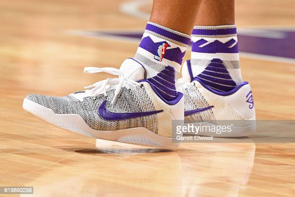 The shoes of Arron Afflalo of the Sacramento Kings during the game against the San Antonio Spurs on October 27 2016 at the Golden 1 Center in...