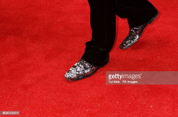 The shoes of Benedict Cumberbatch as he arrives for the Philips British Academy Television Awards at the Grosvenor House 90 Park Lane London