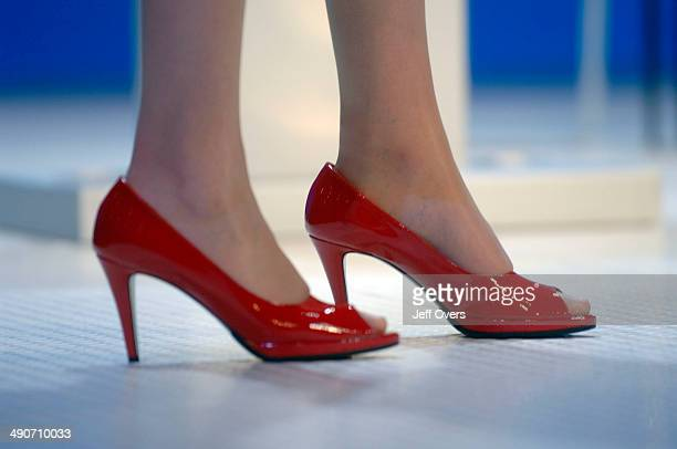 The shoes of Conservative Party Shadow Leader of the Commons Theresa May on the second day of the Conservative Party conference in Bournemouth Dorset...