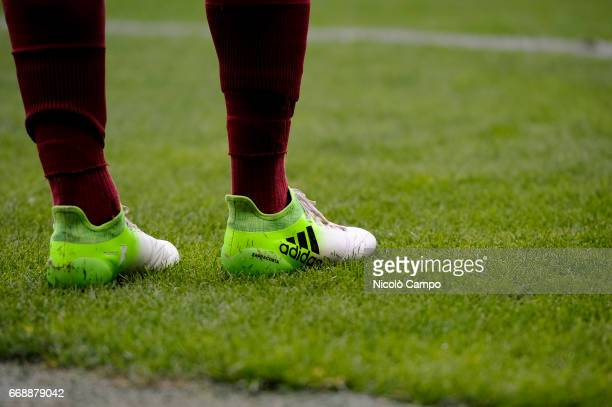 The shoes of Davide Zappacosta of Torino FC during the Serie A football match between Torino FC and FC Crotone Final result is 11