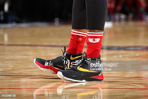 The shoes of DeMarcus Cousins of the Western Conference during the NBA AllStar Game as part of 2016 NBA AllStar Weekend on February 14 2016 at the...