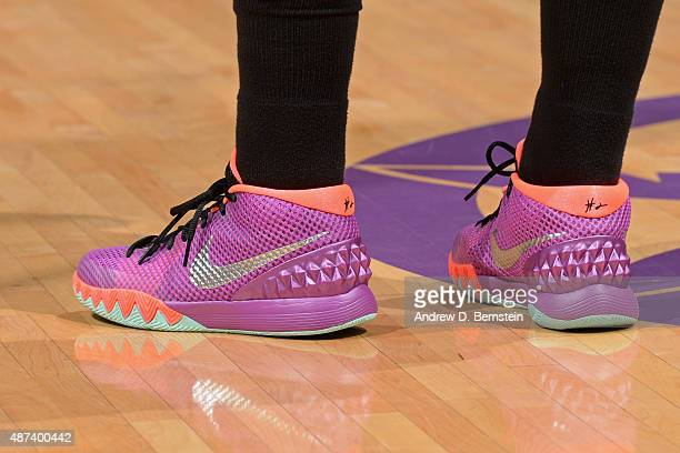 The shoes of Ivory Latta of the Washington Mystics during the game against the Los Angeles Sparks at STAPLES Center on September 03 2015 in Los...
